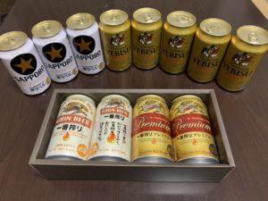 キリン&サッポロ優待ビール